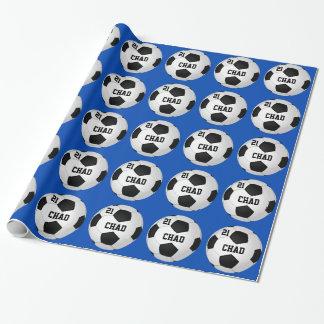 Papier d'emballage personnalisé du football votre papier cadeau