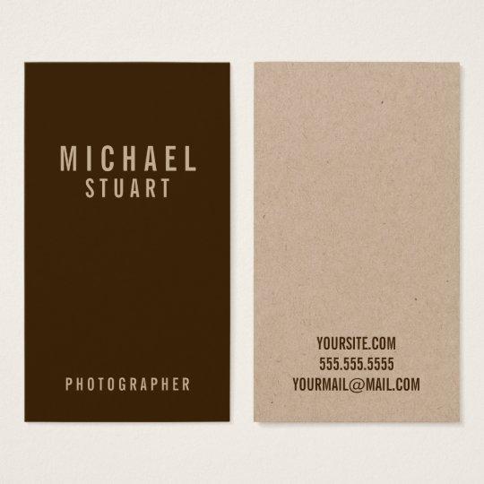 Papier d'emballage professionnel de caractères cartes de visite