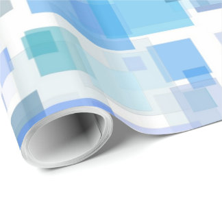 Papier d'emballage - quatre côtés des bleus papier cadeau
