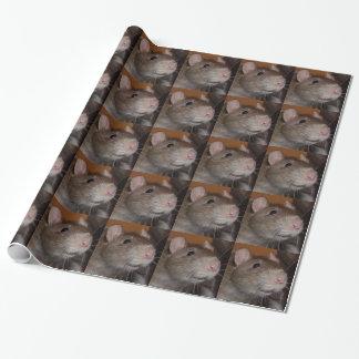 papier d'emballage riant de rat papiers cadeaux noël