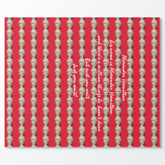 Papier d'emballage rouge d'Alexander Hamilton Papiers Cadeaux Noël