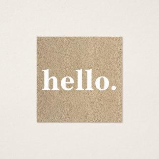 Papier d'emballage rustique minimaliste carte de visite carré
