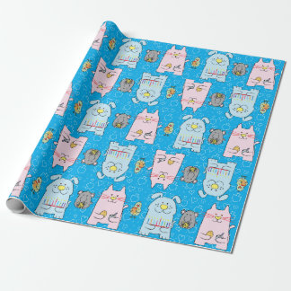 """Papier d'emballage """"souris de Hanoukka d'oiseau de Papier Cadeau"""