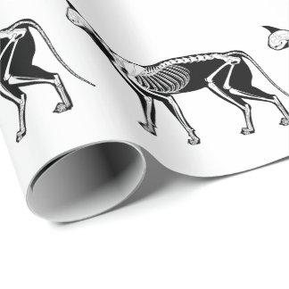 Papier d'emballage squelettique de silhouette de papier cadeau
