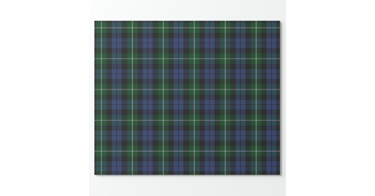 papier d 39 emballage traditionnel de plaid de tartan papier cadeau no l zazzle. Black Bedroom Furniture Sets. Home Design Ideas