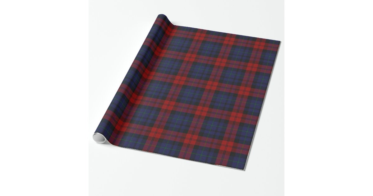 papier d 39 emballage traditionnel de plaid de tartan papiers cadeaux no l zazzle. Black Bedroom Furniture Sets. Home Design Ideas