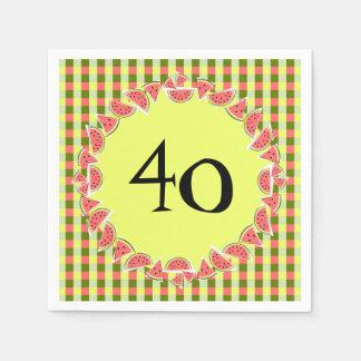 Papier heureux de 40 serviettes d'âge de contrôle serviettes en papier