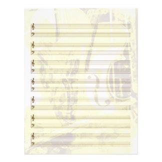 Papier Instrument-Orienté de personnel en or Prospectus 21,6 Cm X 24,94 Cm