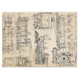 Papier Mousseline Amour locomotif