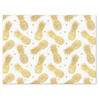 Papier Mousseline Ananas étincelants d'or