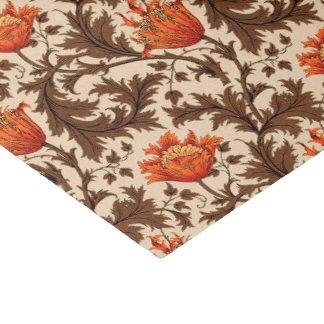 Papier Mousseline Anémone, beige, Brown et rouille de William Morris