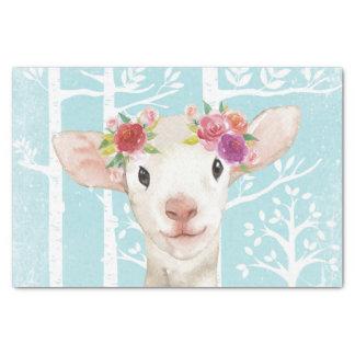 Papier Mousseline Animal heureux avec des fleurs chez les