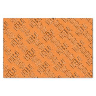 Papier Mousseline Anniversaire orange de Néerlandais de ballon de