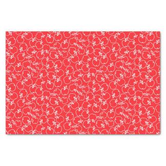 Papier Mousseline Apple blanc modèlent sur le rouge