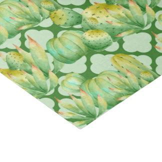 Papier Mousseline Aquarelle de question de partie de motif de cactus