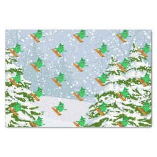Papier Mousseline arbre de Noël de snowboarding