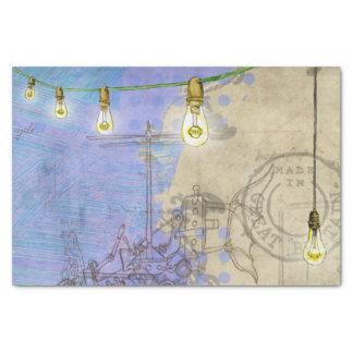 Papier Mousseline Architecte mécanique d'ampoule de Steampunk Edison