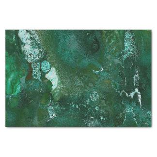 Papier Mousseline Argent brillant et marbre vert d'émeraude de