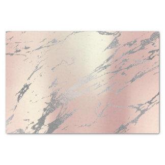 Papier Mousseline Argent métallique de rose d'or gris de marbre de