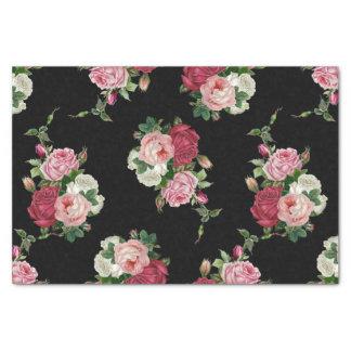 Papier Mousseline Arrière - plan Rose-Noir de chou vintage