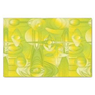 Papier Mousseline Art déco jaune et vert