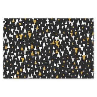 Papier Mousseline Art moderne de triangle - or noir
