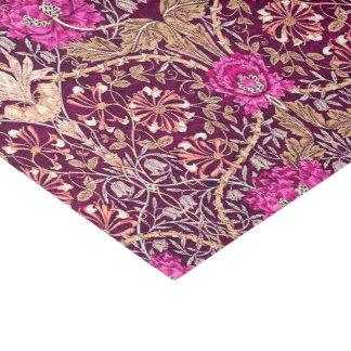 Papier Mousseline Art Nouveau floral, prune, beige et Deep Purple
