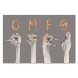 Papier Mousseline Autruches d'OMFG