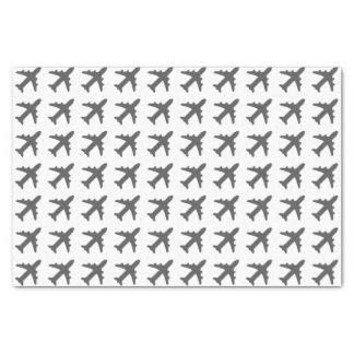 Papier Mousseline Avions gris