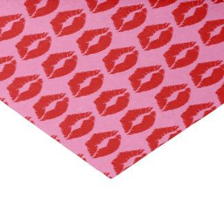 """Papier Mousseline """"Baiser rouge de lèvres """""""