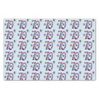 Papier Mousseline Ballons colorés de joyeux soixante-dixième