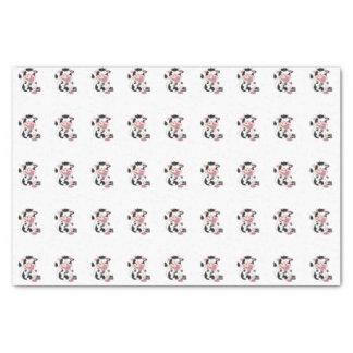 Papier Mousseline Bande dessinée mignonne de vache à bébé avec son