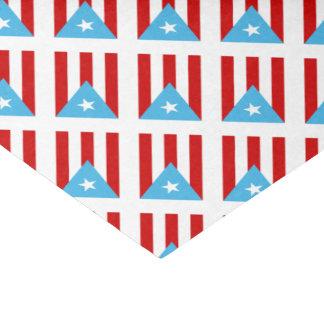 Papier Mousseline Bandera Independencia Porto Rico