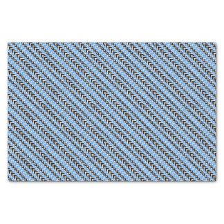 Papier Mousseline Battements de coeur noirs et bleus