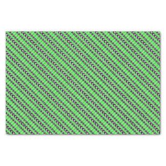 Papier Mousseline Battements de coeur noirs et verts