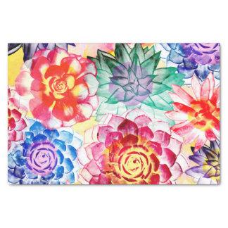 Papier Mousseline Beau motif succulent coloré de plante
