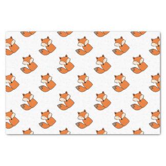 Papier Mousseline Beau renard rouge