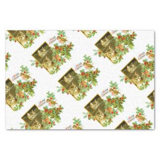 Papier Mousseline Beaux minous et Noël vintage mignon de Robin  
