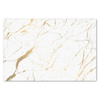 Papier Mousseline Blanc et concepteur de marbre d'or