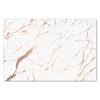 Papier Mousseline Blanc et concepteur rose de marbre d'or
