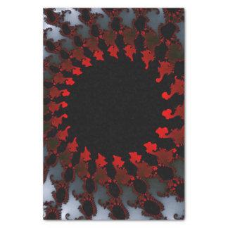 Papier Mousseline Blanc noir rouge de fractale