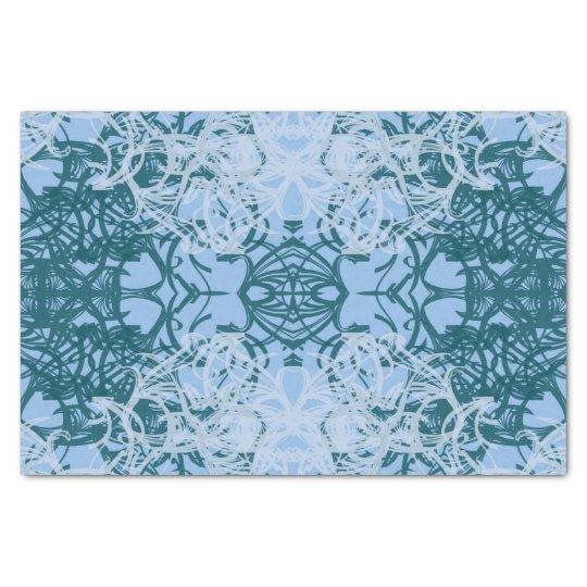 papier mousseline bleu