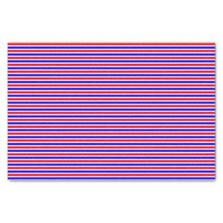 Papier Mousseline Bleu blanc rouge rayé