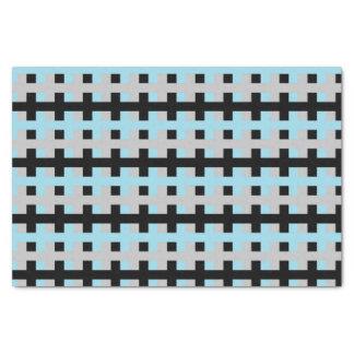Papier Mousseline Bleu en pastel abstrait, argent et noir