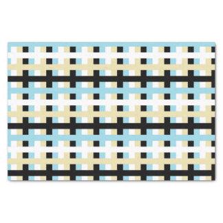 Papier Mousseline Bleu en pastel, blanc abstraits, beige et noir