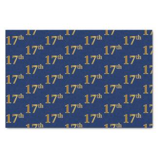 Papier Mousseline Bleu, événement d'or de Faux 17ème (dix-septième)