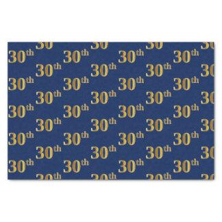 Papier Mousseline Bleu, événement d'or de Faux 30ème (trentième)