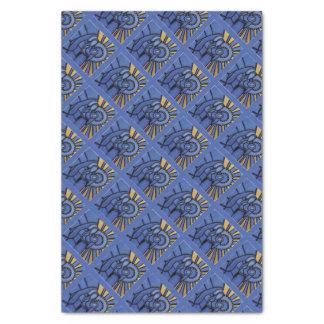 Papier Mousseline Bleu moderne de Jésus Mary Joseph de nativité de