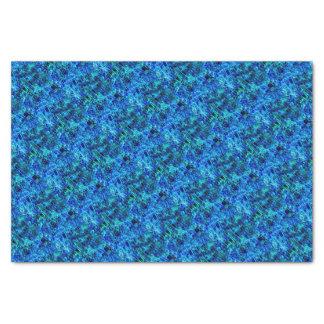 Papier Mousseline Bleus espiègles de partie
