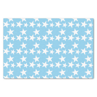 Papier Mousseline Bleus layette avec les étoiles blanches